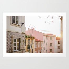 Pastel Neighbourhood Art Print