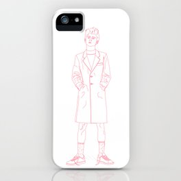 Red Model iPhone Case
