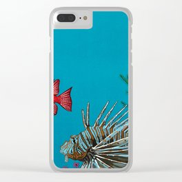 Scorpion & Bigeye fishes Clear iPhone Case