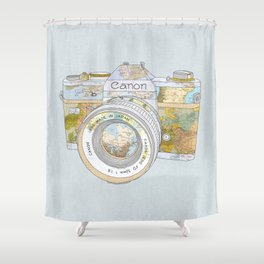 TRAVEL CAN0N Shower Curtain