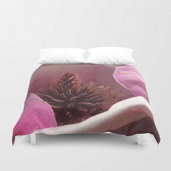 Magnolia Blossom Heart Duvet Cover