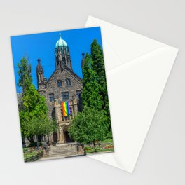 Church With LGBT Pride Flag Stationery Cards