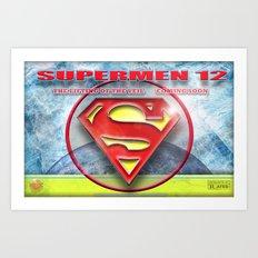 Supermen 12 The Lifting of the veil Art Print