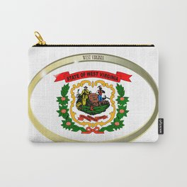 West Virginia State Flag Oval Button Carry-All Pouch