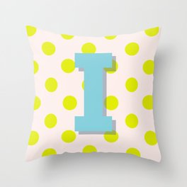I is for Inspiration Throw Pillow
