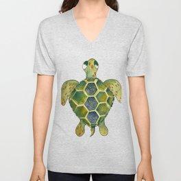 Wise Sea Turtle Unisex V-Neck