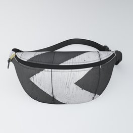 Black and White Illusion Fanny Pack