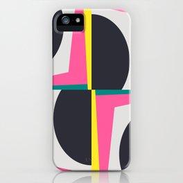 Modern Geometric 65 Pink iPhone Case