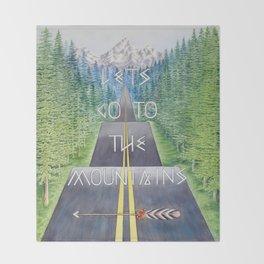 Mountain Travel Quote Throw Blanket