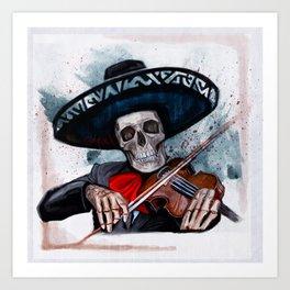 El Mariachi - Dia De Los Muertos Art Print