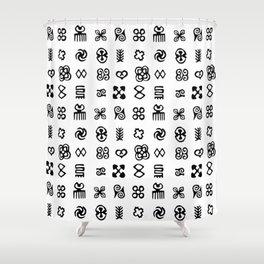 Adinkra Symbols Of West Africa Shower Curtain