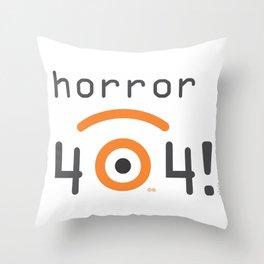 horror 404 Throw Pillow