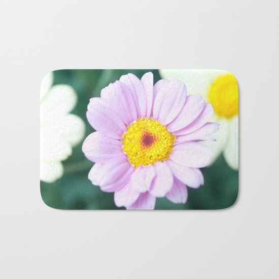 Soft Pink Marguerite Daisy Flower #1 #decor #art #society6 Bath Mat