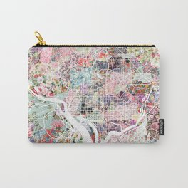 Washington map flowers Carry-All Pouch