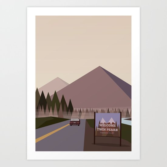 Welcome to Twin Peaks Poster Art Print