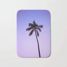 palm tree ver.violet Bath Mat