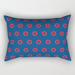 Fishman Donuts Red and Blue Rectangular Pillow