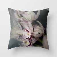 orchid Throw Pillows featuring Orchid by Pure Nature Photos