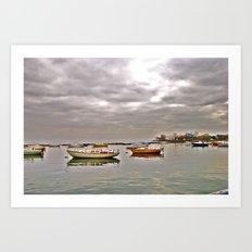 resting boats Art Print
