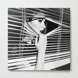 Window Girl Metal Print