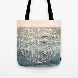 Mandala Flower of Life Sea Tote Bag