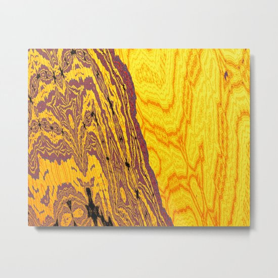 from yellow dunes to ugly shore Metal Print