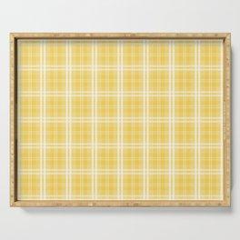 Spring 2017 Designer Color Primrose Yellow Tartan Plaid Check Serving Tray