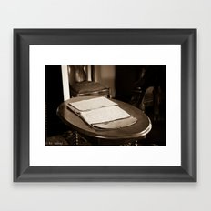 Writing Desk Framed Art Print