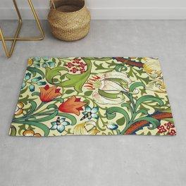 William Morris Garden Lily Floral Print Rug