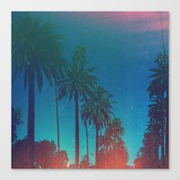 los angeles Canvas Prints featuring Los Angeles. by Polishpattern