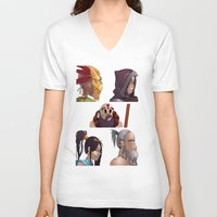 gorillaz V-neck T-shirts featuring Diablo Days by Philtomato