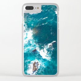 Surf Photography, Beach Wall Art Print, Ocean Water Surfing, Coastal Decor, Digital Download, Bathro Clear iPhone Case