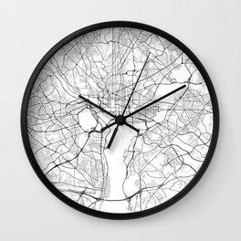 Washington DC Street Map Wall Clock