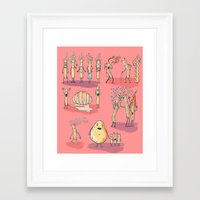 french fries Framed Art Prints featuring French fries by bernardojbp
