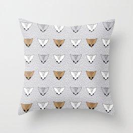 Shaggy faces Throw Pillow