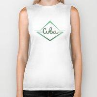 cuba Biker Tanks featuring Cuba by Zachary Perry