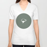 lightning V-neck T-shirts featuring Lightning by averagemark