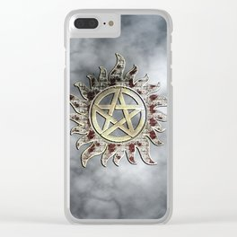 Smokey supernatural Clear iPhone Case