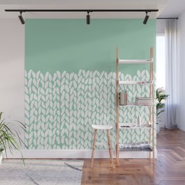 Half Knit Mint Wall Mural