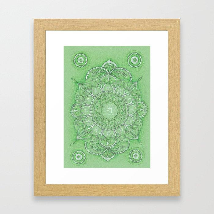 mandala Chakra Anahata Framed Art Print