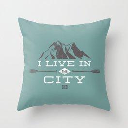 City Dweller Throw Pillow