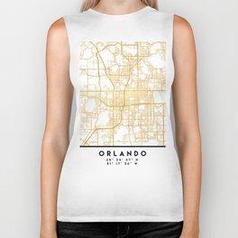 ORLANDO FLORIDA CITY STREET MAP ART Biker Tank