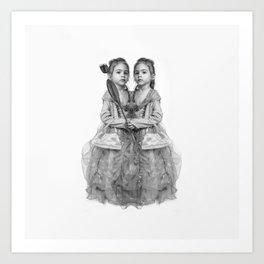 Sisters Twins Art Print