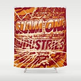 Slam 1 Industries Broken Glass Orange Shower Curtain