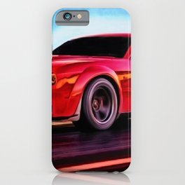 MOPAR Challenger Hellcat Demon Torred Painting by Jeanpaul Ferro iPhone Case