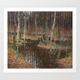 Autumn flood Art Print