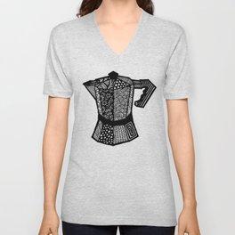 "Coffee Lovers ""Macchinetta"" Unisex V-Neck"