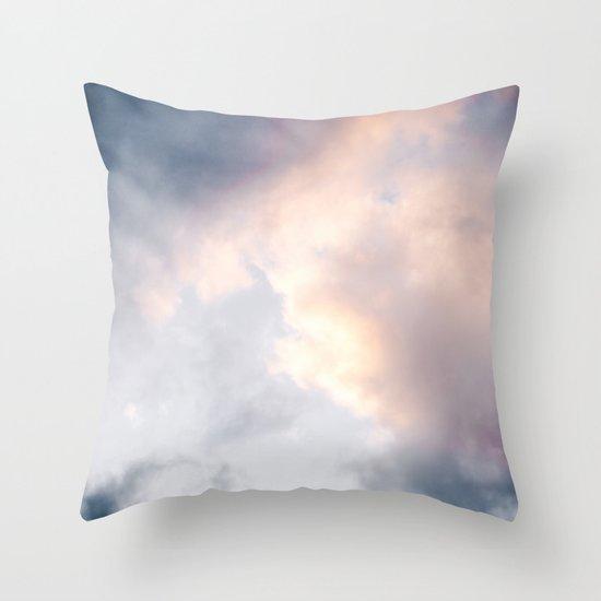 Creamy Clouds Throw Pillow