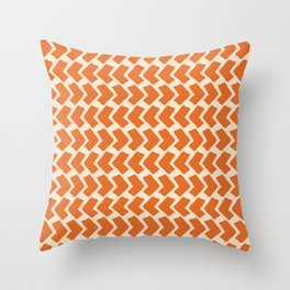 Orange Geometric Pattern Retro Print Deko-Kissen