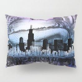 chicago city skyline Pillow Sham